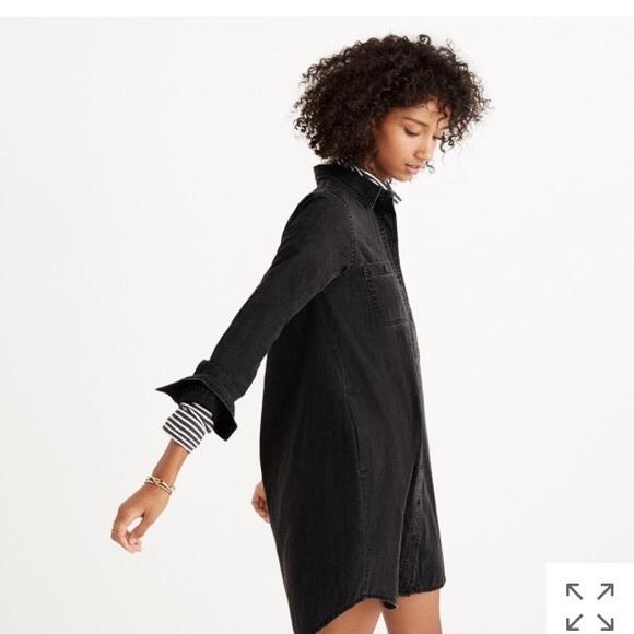09aed9a707 Madewell Dresses   Skirts - Madewell Black Denim Shirt Dress